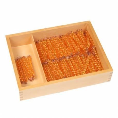 Caja de madera con cadena del 100 y del 1.000