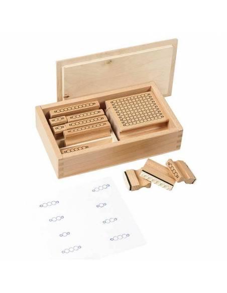 Sellos de Perlas Montessori  Sistema Decimal