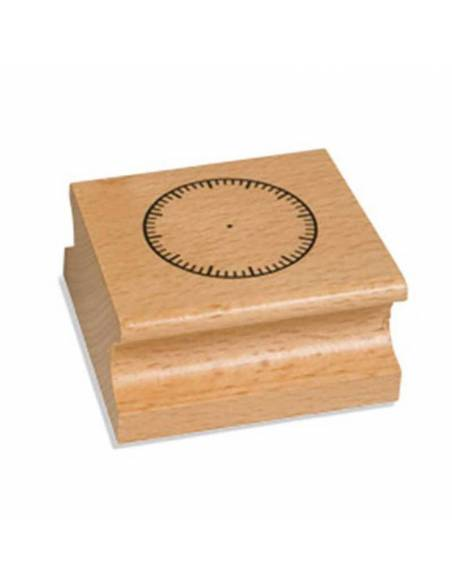 Sello del Reloj - Sin Números  Medidas y Tiempo