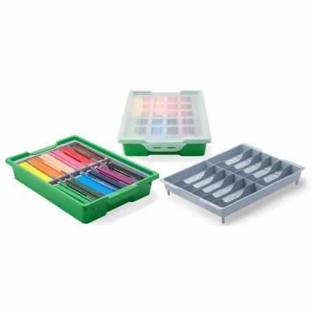 Caja Clasificadora con tapa y bandeja  Papelería