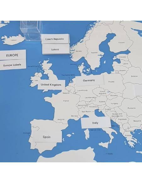 Etiquetas de los Países de Europa  Países y Naciones
