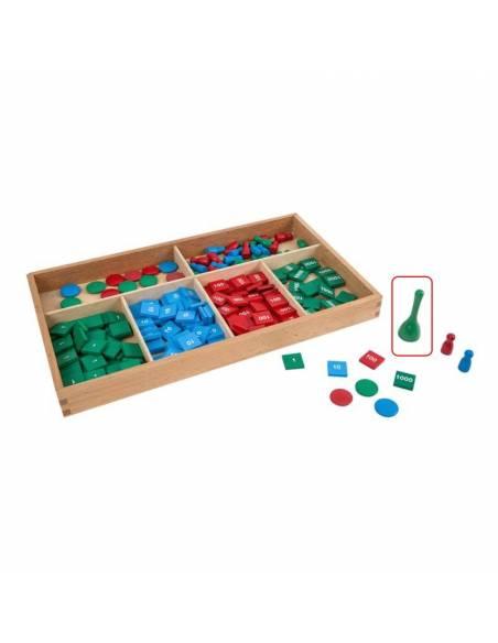 Pack 3 Peones Grandes - Juego de sellos Montessori  Perlas y Repuestos