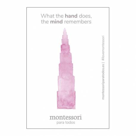 """Imán """"What the hand does, the mind remembers""""  Regalos Montessori"""