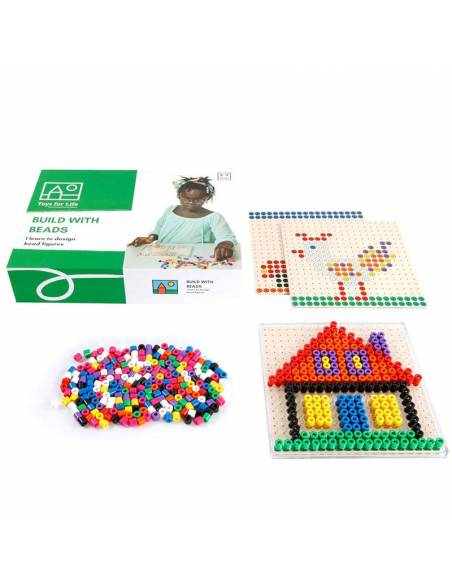 Build with beads - Construye con cuentas de colores  Construcciones
