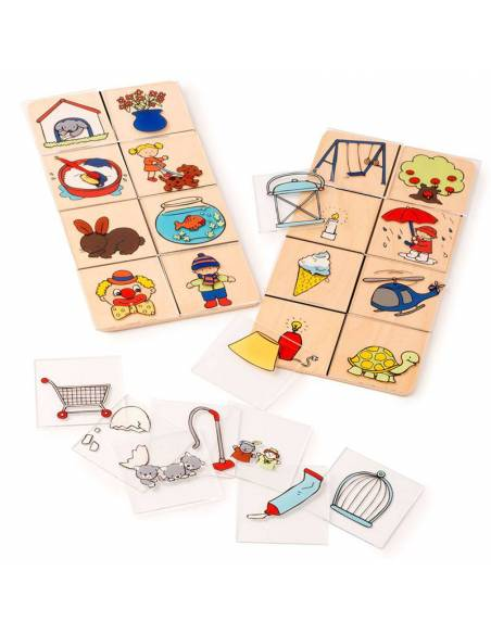 Complete the item - Relaciona las imágenes  Juegos de mesa