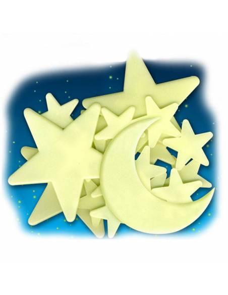 Estrellas y Luna Fluorescentes adhesivos  Sistema Solar