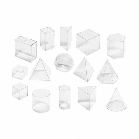 Set para trabajar el volumen - 15 piezas  Medidas, peso y volumen