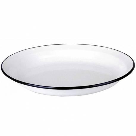 Plato Hondo de acero esmaltado 22 cm  Utensilios de cocina