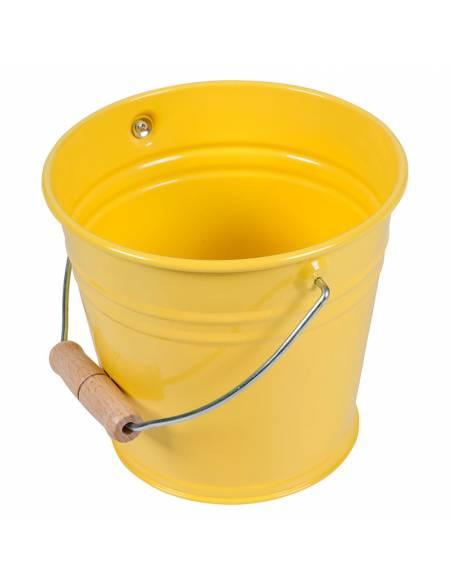 Cubo Metal Amarillo  Cuidado del ambiente