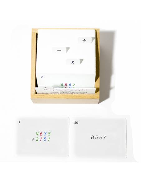 Tarjetas de actividades - Juego de estampas (EN)  Tarjetas Montessori