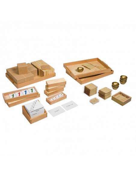 Tarjetas de actividades - Material Dorado (EN)  Tarjetas Montessori