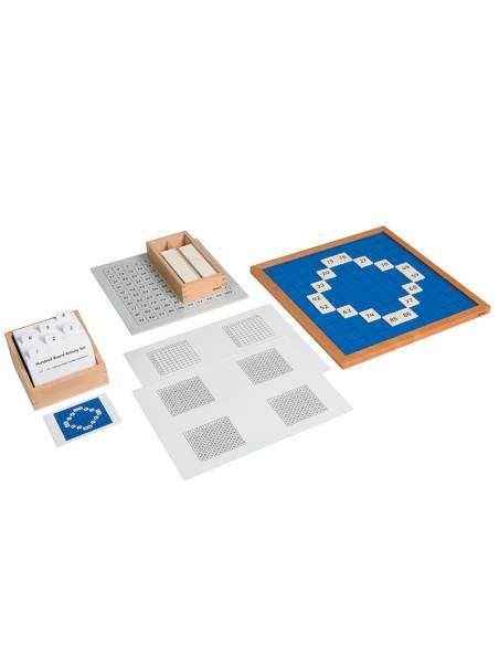 Tarjetas de actividades - Tablero del 100 (EN)  Tarjetas Montessori