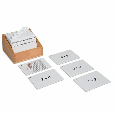 Tarjetas de actividades - Tablero Multiplicación  Operaciones Básicas
