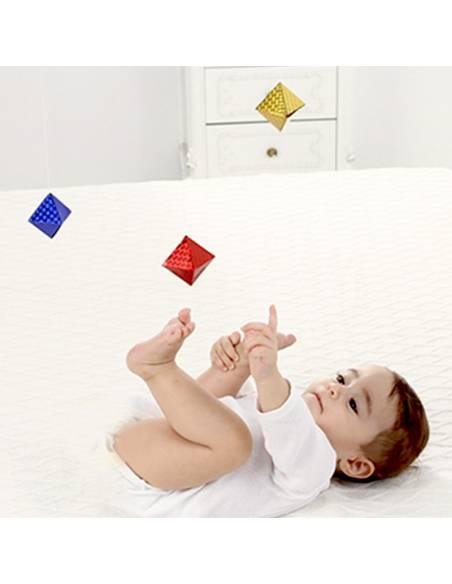 Móvil bebé DIY - Octaedros  Bebés