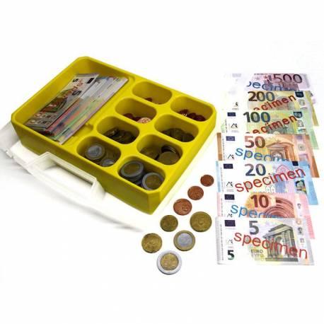 Estuche con monedas y billetes  Monedas y Billetes