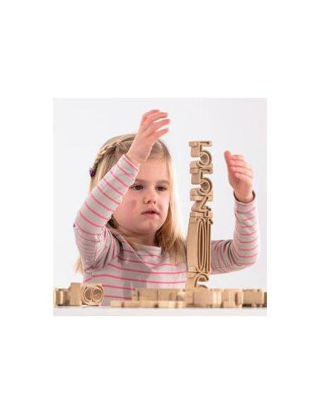 Saco 170 piezas - Torre de Números  Aprender a Contar