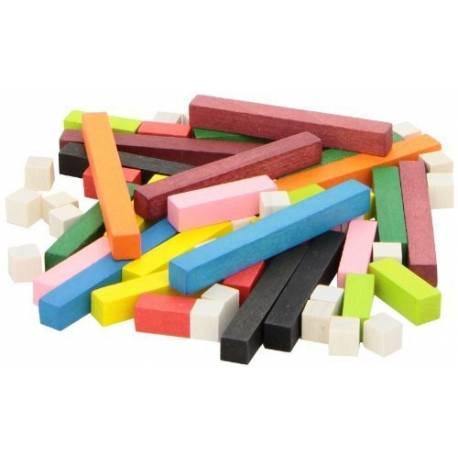 60 regletas de madera 1x1