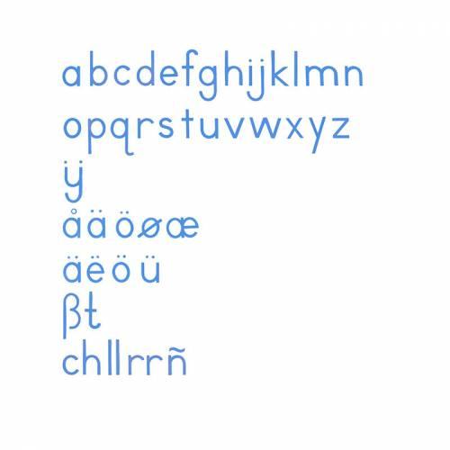 Abc International Print - Blue  Aprender a escribir