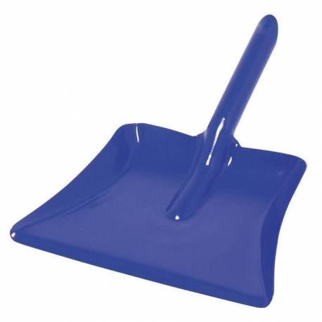 Recogedor en metal - Color azul 24cm  Cuidado del ambiente