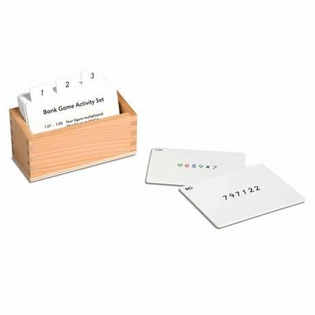 Tarjetas de actividades - Juego del Banco  Tarjetas Montessori