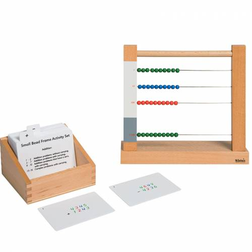 Tarjetas de actividades - Ábaco pequeño  Tarjetas Montessori