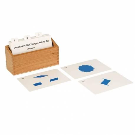 Tarjetas de actividades - Triángulos azules (EN)  Geometría y Álgebra