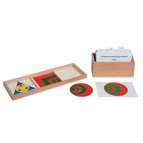 Tarjetas de actividades - Figuras geométricas superpuestas (EN)  Tarjetas Montessori