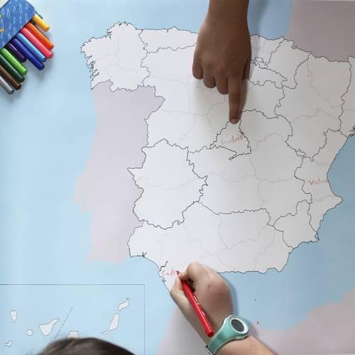 Mapa Político de España en lona 65 x 50  Mapas de España