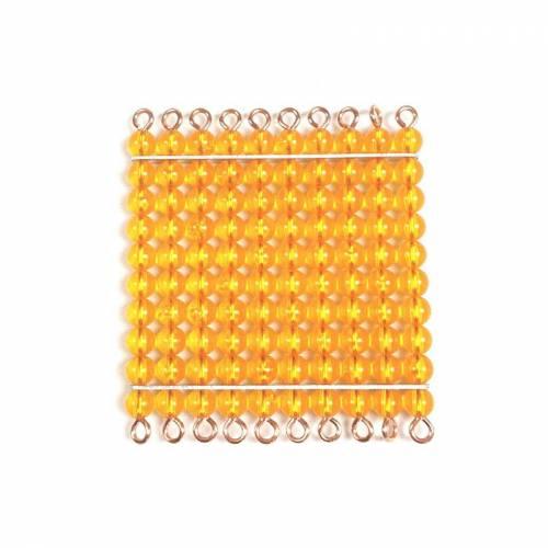 Cuadrado de perlas de 100  Sistema Decimal