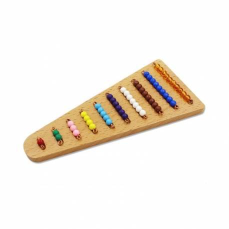 Base para escalera de perlas con surco  Contar del 0 al 100