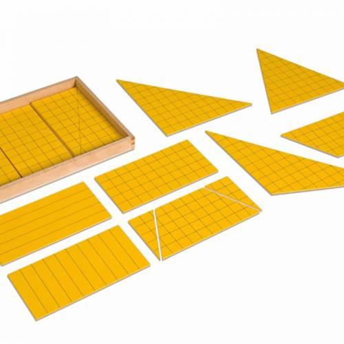 Triángulos Amarillos para el Área  Geometría y Álgebra