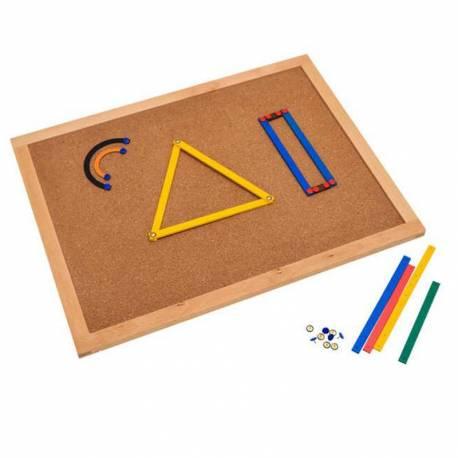 Tablero de corcho para el juego geométrico  Geometría y Álgebra