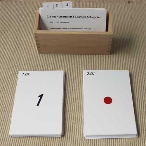 Tarjetas de actividades - Números y contadores (EN)  Tarjetas Montessori