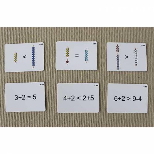 Tarjetas de actividades - Perlas Montessori (EN)  Sistema Decimal