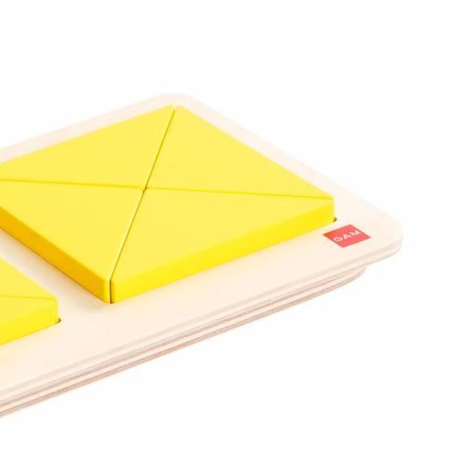 Cuadrados y Triángulos - Fracciones  Sensorial