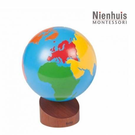 Globo de continentes en color - Nienhuis  Universo y la Tierra