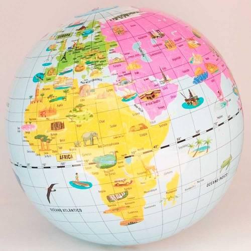 Globo terráqueo Maravillas del Mundo 42 cm  Geografía