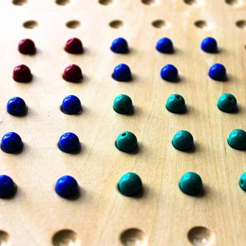 Cuentas de plástico color azul (100 uds)  Perlas y Repuestos
