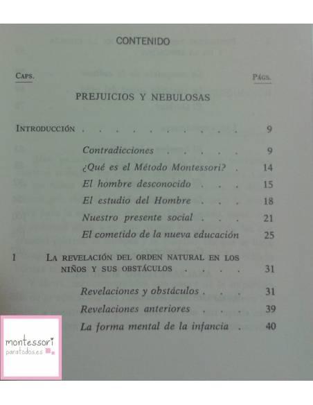 Formación del hombre - María Montessori  Bibliografía de María Montessori