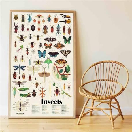 Gran póster de pegatinas - Insectos  Ciencia y medio ambiente