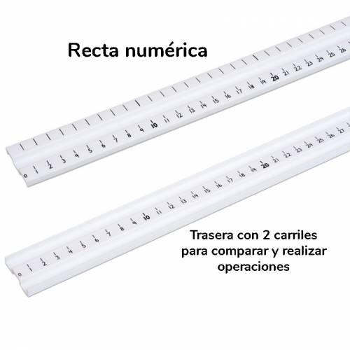 Recta numérica de metro para regletas matemáticas  Regletas