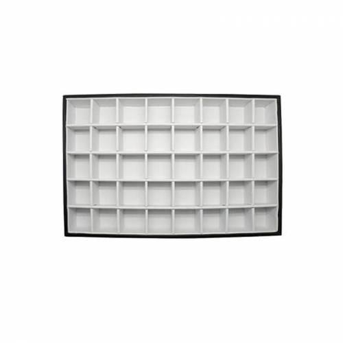 Caja con tapa transparente y compartimentos  Fósiles y minerales
