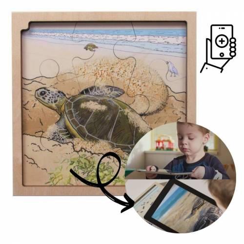 Puzzle Realidad Aumentada - Ciclo de la Tortuga  Puzzles y construcciones