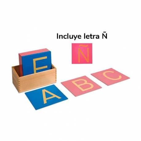 Letras de lija Mayúsculas Montessori con Ñ  Aprender a leer