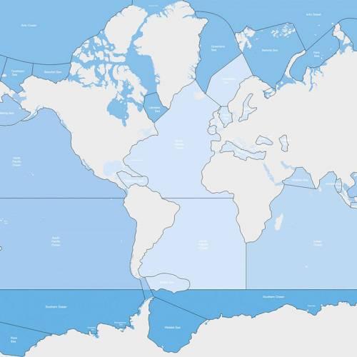 Mapa de Control de Mares y Océanos (Etiquetada)  Universo y la Tierra