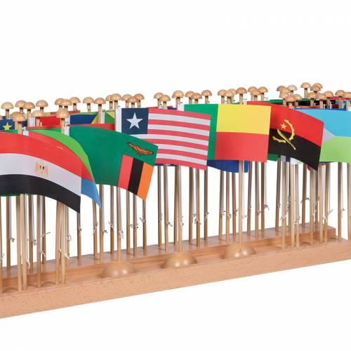 Soporte banderas de África  Continentes y países