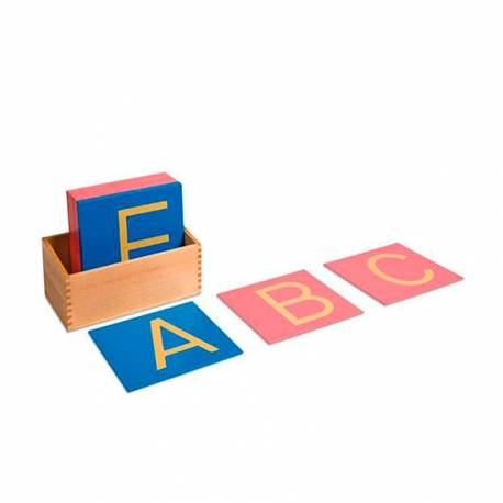 Letras de lija Mayúsculas Montessori  Aprender a leer