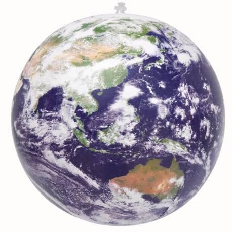 Globo terráqueo hinchable NUBES 40 cm  Ciencia y medio ambiente