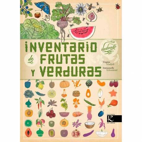 Inventario ilustrado de frutas y verduras  Libros con Imágenes Reales