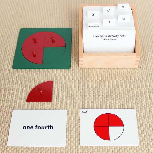 Tarjetas de actividades - Fracciones nº 1 (EN)  Tarjetas Montessori